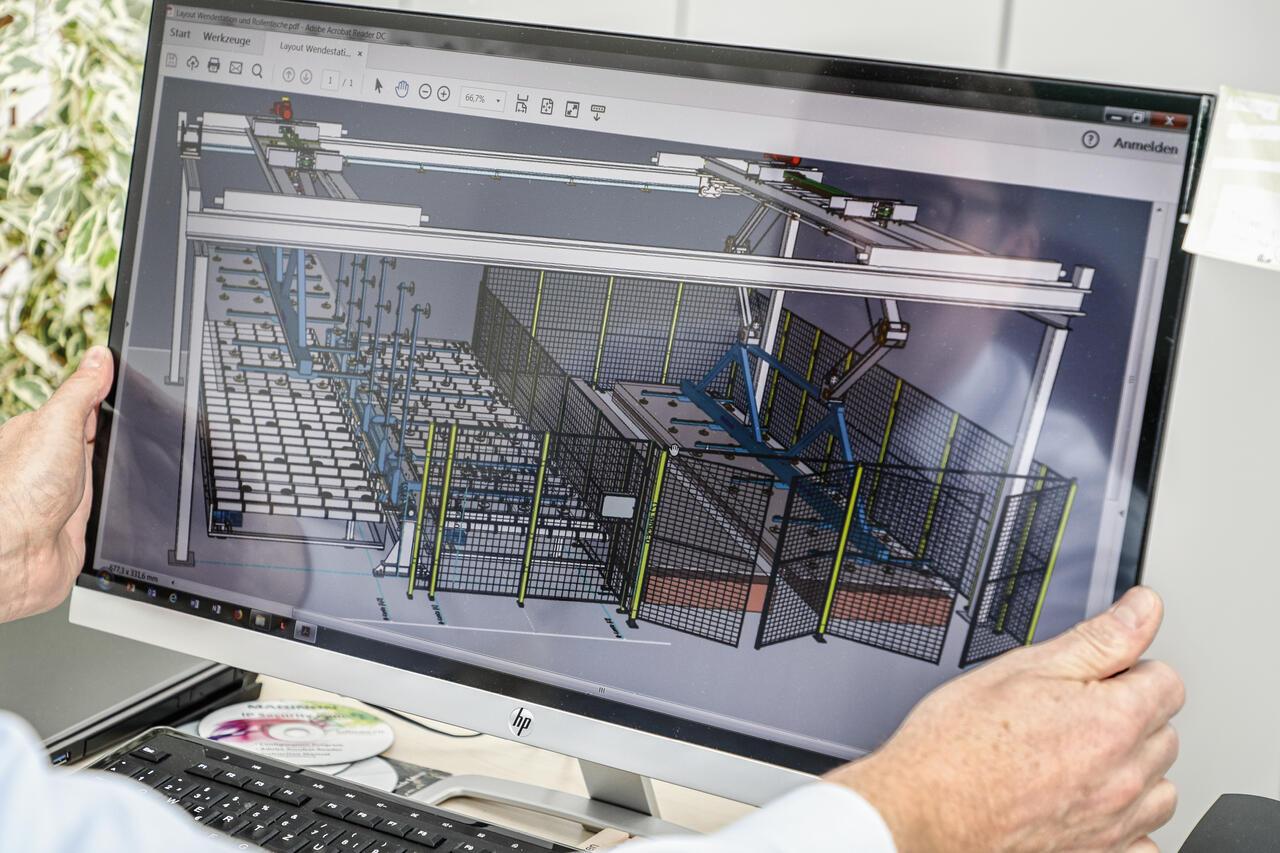 Bevor aus Kabel, Stahl und Lack ein Unikat entsteht, wird eine detaillierte 3D-CAD-Animation erstellt.